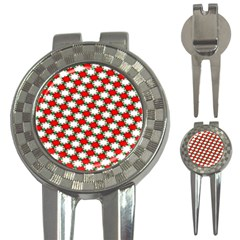 Christmas Star Red Green 3 In 1 Golf Divots