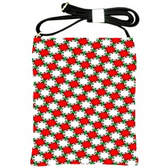 Christmas Star Red Green Shoulder Sling Bags