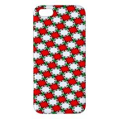 Christmas Star Red Green Apple Iphone 5 Premium Hardshell Case