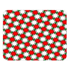 Christmas Star Red Green Double Sided Flano Blanket (large)