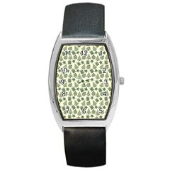 Christmas Pattern Gif Star Tree Happy Barrel Style Metal Watch