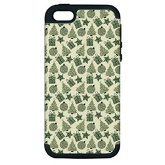 Christmas Pattern Gif Star Tree Happy Apple Iphone 5 Hardshell Case (pc+silicone)