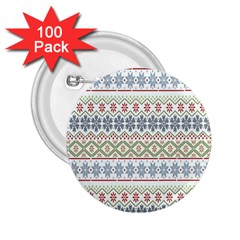 Christmas Star Flower Red Blue 2 25  Buttons (100 Pack)