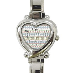 Christmas Star Flower Red Blue Heart Italian Charm Watch
