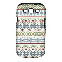 Christmas Star Flower Red Blue Samsung Galaxy S Iii Classic Hardshell Case (pc+silicone)