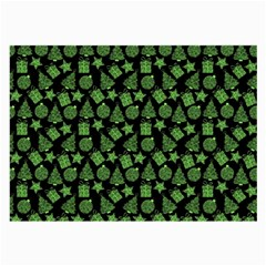 Christmas Pattern Gif Star Tree Happy Green Large Glasses Cloth