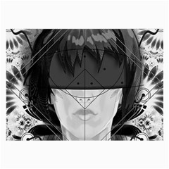 Beautiful Bnw Fractal Feathers For Major Motoko Large Glasses Cloth