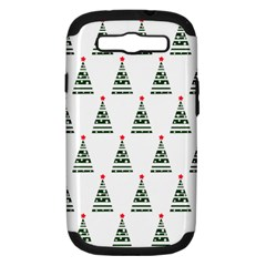 Christmas Tree Green Star Red Samsung Galaxy S Iii Hardshell Case (pc+silicone)