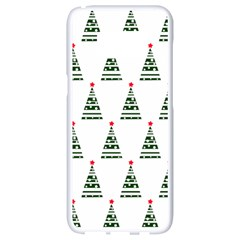 Christmas Tree Green Star Red Samsung Galaxy S8 White Seamless Case