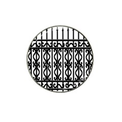 Inspirative Iron Gate Fence Grey Black Hat Clip Ball Marker