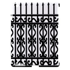 Inspirative Iron Gate Fence Grey Black Apple Ipad 3/4 Hardshell Case (compatible With Smart Cover)
