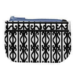 Inspirative Iron Gate Fence Grey Black Large Coin Purse