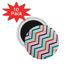 Line Color Rainbow 1 75  Magnets (10 Pack)