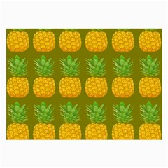Fruite Pineapple Yellow Green Orange Large Glasses Cloth