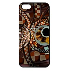 Midnight Never Ends, A Red Checkered Diner Fractal Apple Iphone 5 Seamless Case (black)
