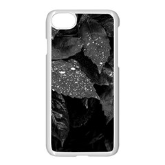 Black And White Leaves Photo Apple Iphone 8 Seamless Case (white)