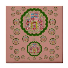 Sankta Lucia With Friends Light And Floral Santa Skulls Tile Coasters