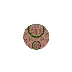 Sankta Lucia With Friends Light And Floral Santa Skulls 1  Mini Buttons