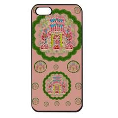 Sankta Lucia With Friends Light And Floral Santa Skulls Apple Iphone 5 Seamless Case (black)