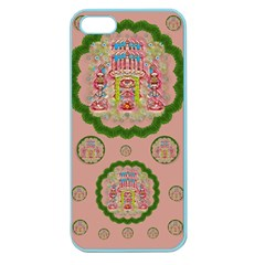 Sankta Lucia With Friends Light And Floral Santa Skulls Apple Seamless Iphone 5 Case (color)