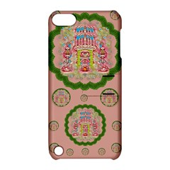 Sankta Lucia With Friends Light And Floral Santa Skulls Apple Ipod Touch 5 Hardshell Case With Stand