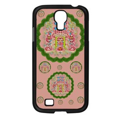 Sankta Lucia With Friends Light And Floral Santa Skulls Samsung Galaxy S4 I9500/ I9505 Case (black)