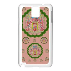 Sankta Lucia With Friends Light And Floral Santa Skulls Samsung Galaxy Note 3 N9005 Case (white)