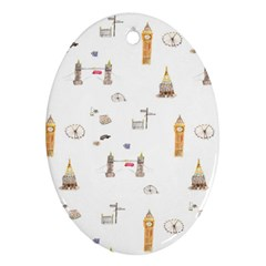 Graphics Tower City Town Ornament (oval)