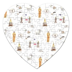 Graphics Tower City Town Jigsaw Puzzle (heart)