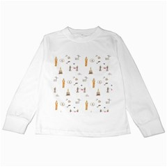 Graphics Tower City Town Kids Long Sleeve T Shirts