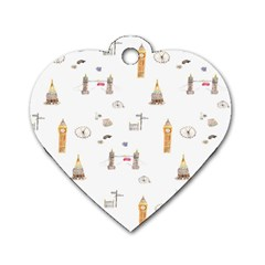 Graphics Tower City Town Dog Tag Heart (two Sides)