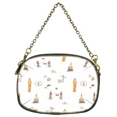 Graphics Tower City Town Chain Purses (one Side)