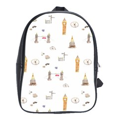 Graphics Tower City Town School Bag (large)