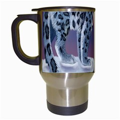 Lion Tigel Chetah Animals Snow Moon Blue Sky Travel Mugs (white)