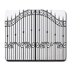 Inspirative Iron Gate Fence Large Mousepads