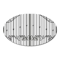 Inspirative Iron Gate Fence Oval Magnet