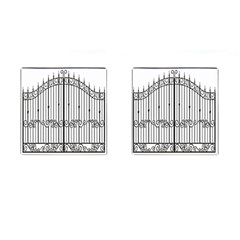 Inspirative Iron Gate Fence Cufflinks (square)