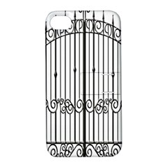 Inspirative Iron Gate Fence Apple Iphone 4/4s Hardshell Case With Stand
