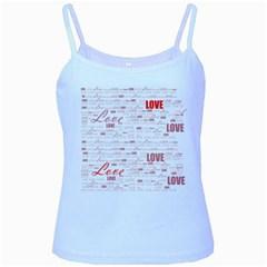 Love Heart Valentine Pink Red Romantic Baby Blue Spaghetti Tank