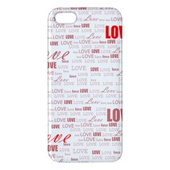 Love Heart Valentine Pink Red Romantic Iphone 5s/ Se Premium Hardshell Case