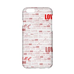 Love Heart Valentine Pink Red Romantic Apple Iphone 6/6s Hardshell Case