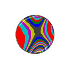 Pattern Rainbow Colorfull Wave Chevron Waves Hat Clip Ball Marker (4 Pack)