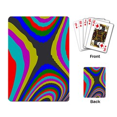 Pattern Rainbow Colorfull Wave Chevron Waves Playing Card