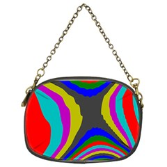 Pattern Rainbow Colorfull Wave Chevron Waves Chain Purses (two Sides)
