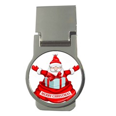 Merry Christmas Santa Claus Money Clips (round)