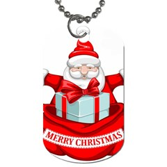 Merry Christmas Santa Claus Dog Tag (two Sides)