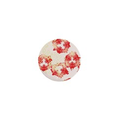 Pattern Flower Red Plaid Green 1  Mini Buttons