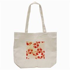 Pattern Flower Red Plaid Green Tote Bag (cream)