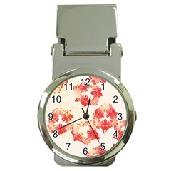 Pattern Flower Red Plaid Green Money Clip Watches