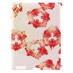 Pattern Flower Red Plaid Green Apple Ipad 3/4 Hardshell Case (compatible With Smart Cover)